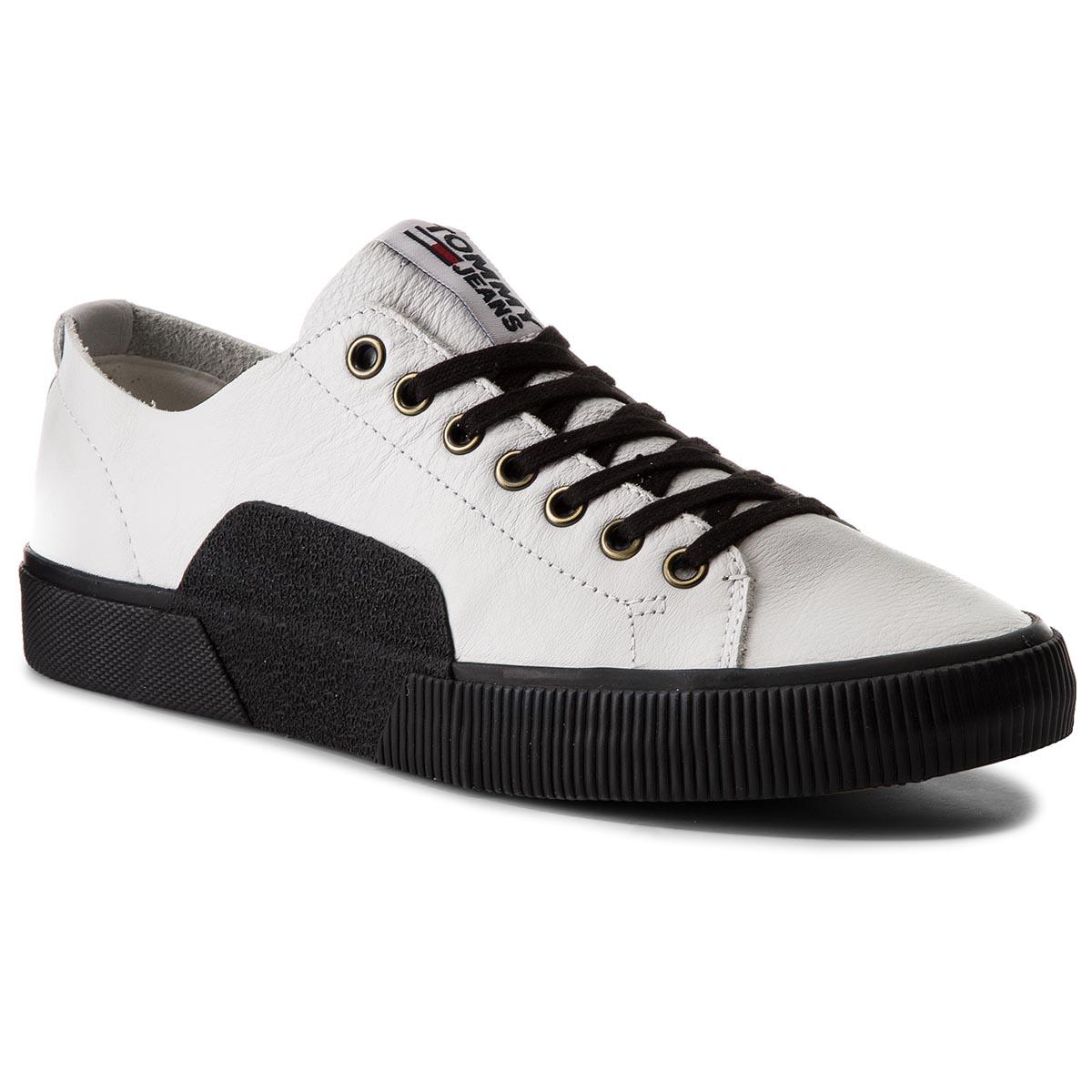 Sportcipő TOMMY JEANS - Tj Urban Leather Sneaker EM0EM00015 White ... 8fbee42cb6