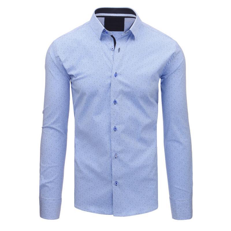 46685ee343 Manstyle Blue mens modern mintás ing, hosszú ujjú - Glami.hu