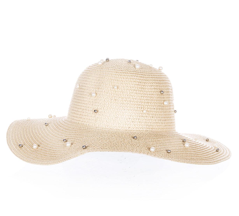 6107496c17b Fashion Icon Dámský letní klobouk s perlíčky - Glami.cz