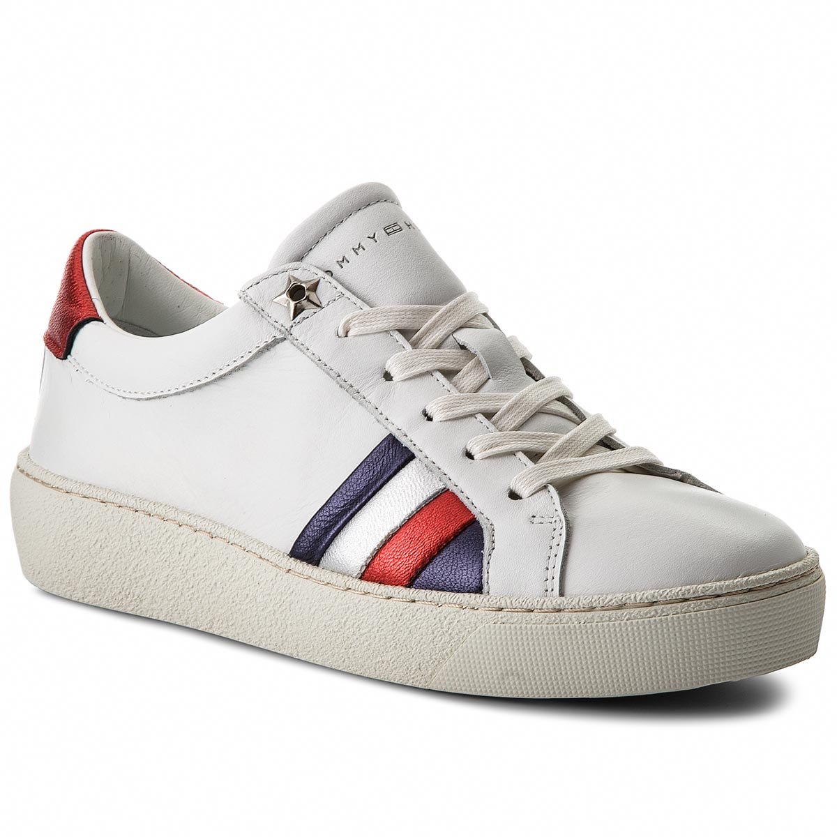 Sneakersy TOMMY HILFIGER - Corporate Iconic Sneaker FW0FW03458 White ... f69b2e5cc42
