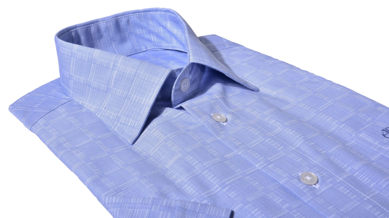 7c5c25ed3dc2 Alain Delon Modrá Slim Fit košeľa s krátkym rukávom - Glami.sk