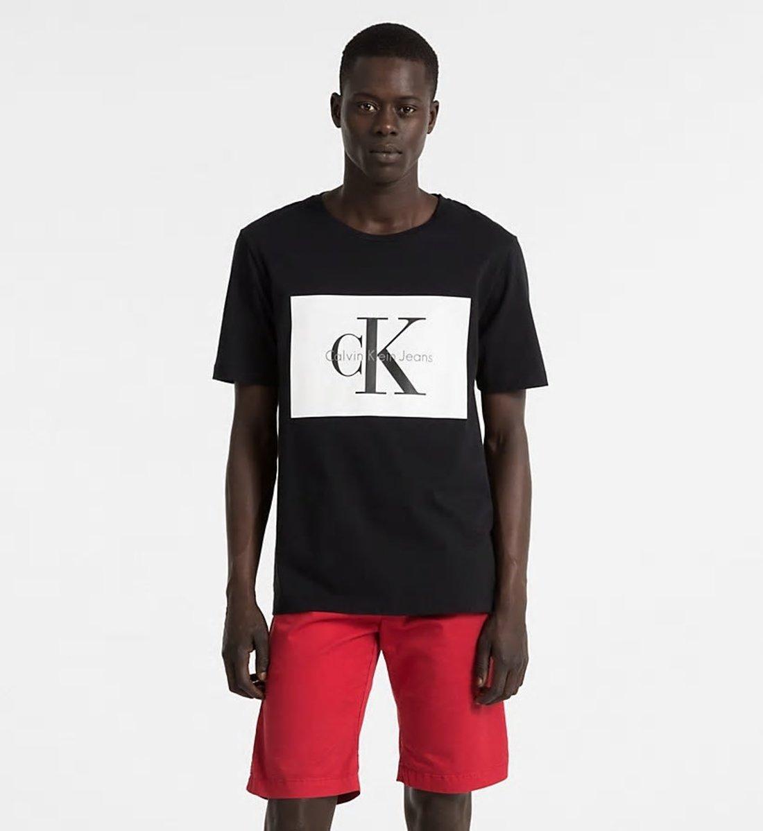 2d9684f0b ... Klein pánské černé tričko s potiskem. -30%. Calvin ...