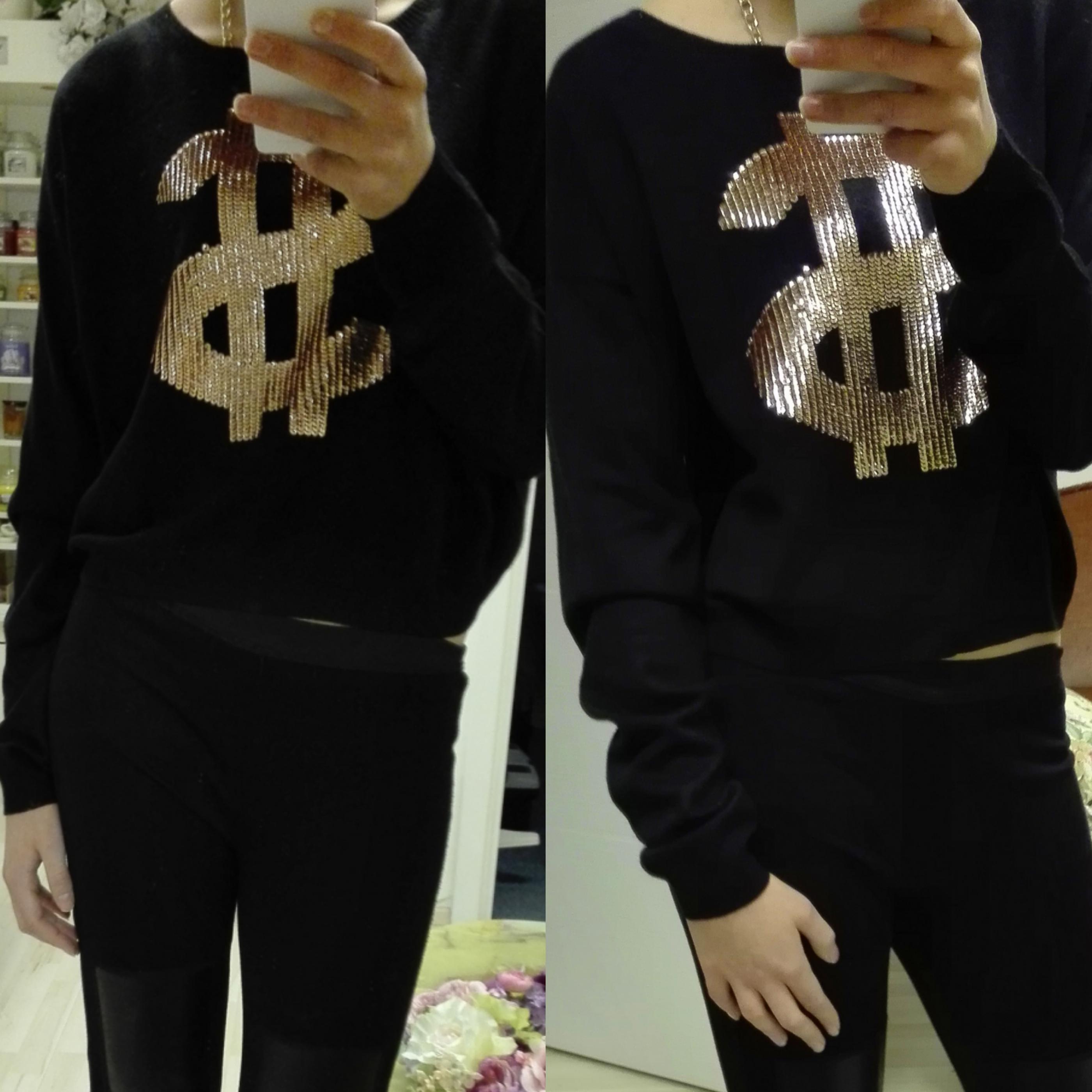 Crop dámský svetr s dolarovým znakem ASOS - Glami.cz 951af435ba