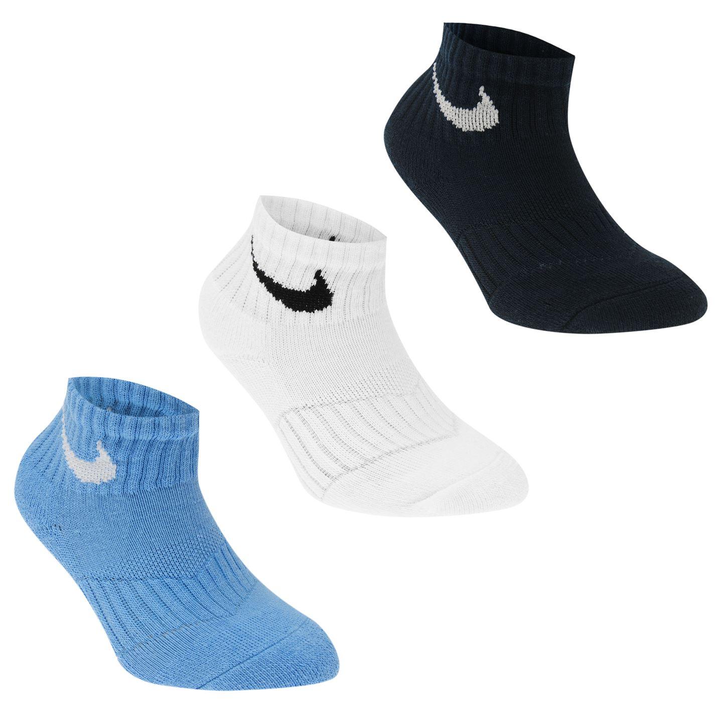 2ccdf0efb1f Ponožky Nike Swoosh Quarter Socks Pack of 3 Childrens - Glami.cz
