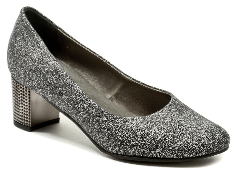 Di Janno De plus 9764-5090 šedo stříbrné dámské nadměrné lodičky ... deb2a872e5