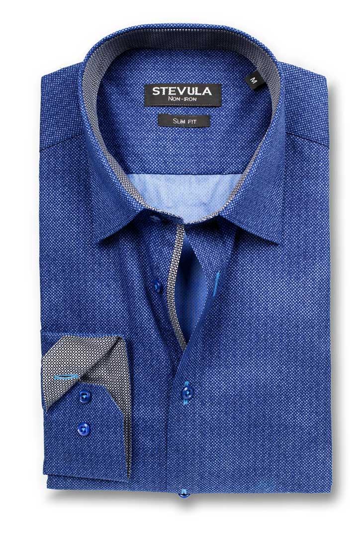 dfb5d68def10 STEVULA Vzorovaná slim fit košeľa s kontrastom a úpravou Non-iron ...