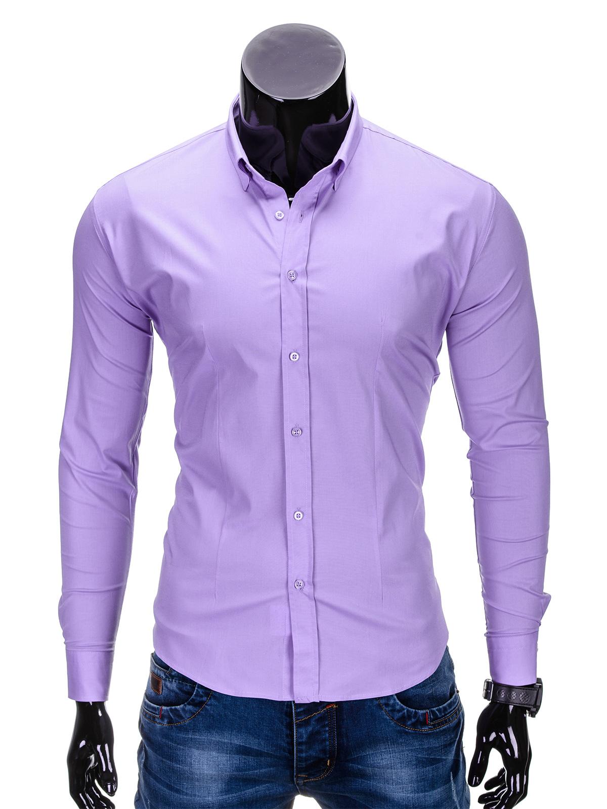 Košile pánská OMBRE K219 LILAC - Glami.cz 9ff181d55f