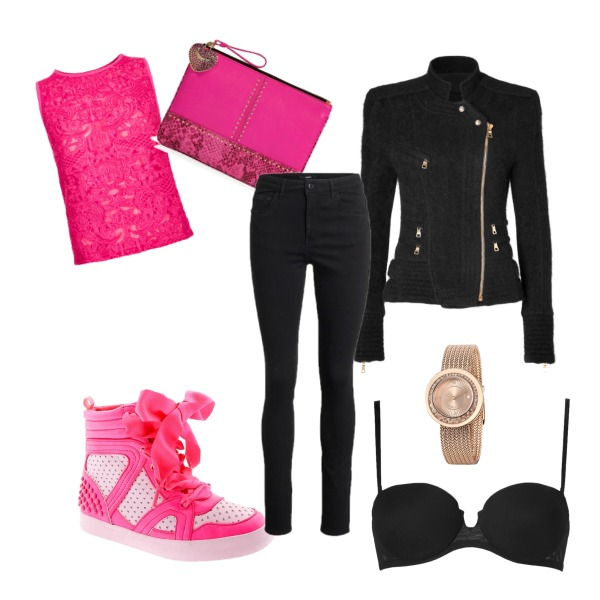 Casual Pink and Black
