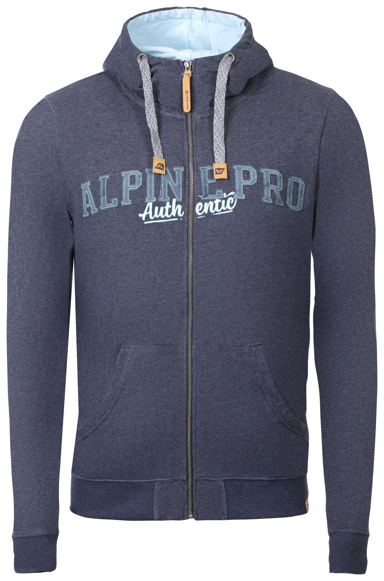Pánská mikina Alpine Pro HOROS 3 - modrá - Glami.cz 87b70f0983e