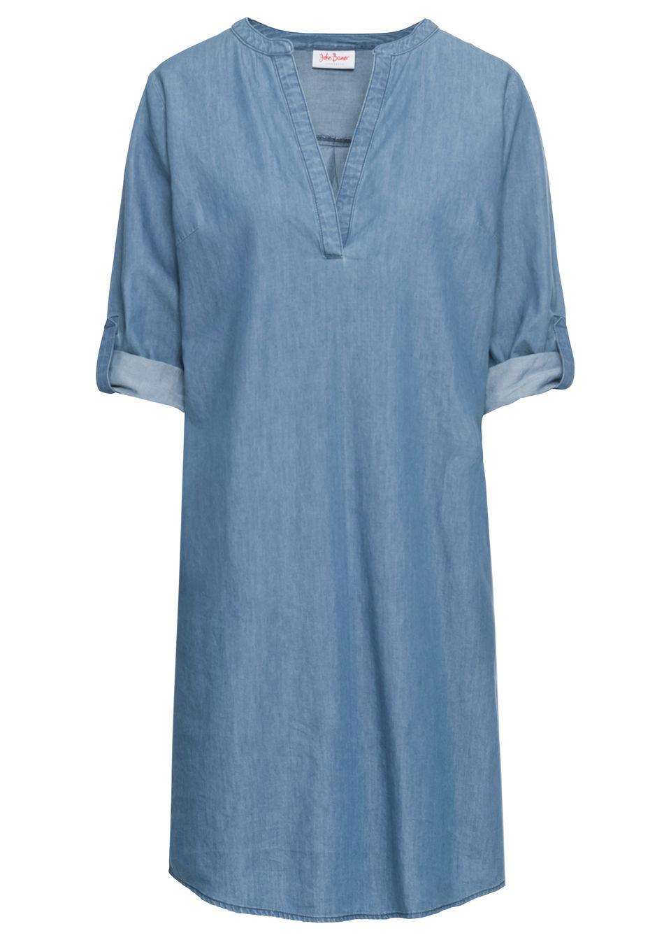 986047ed2c41 Bonprix Džínsové šaty s polovičným rukávom - Glami.sk