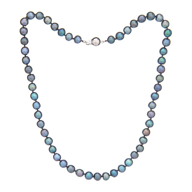 1abc0a32f Buka Jewelry Buka Perlový náhrdelník 7 AA tmavý 776 - Glami.cz