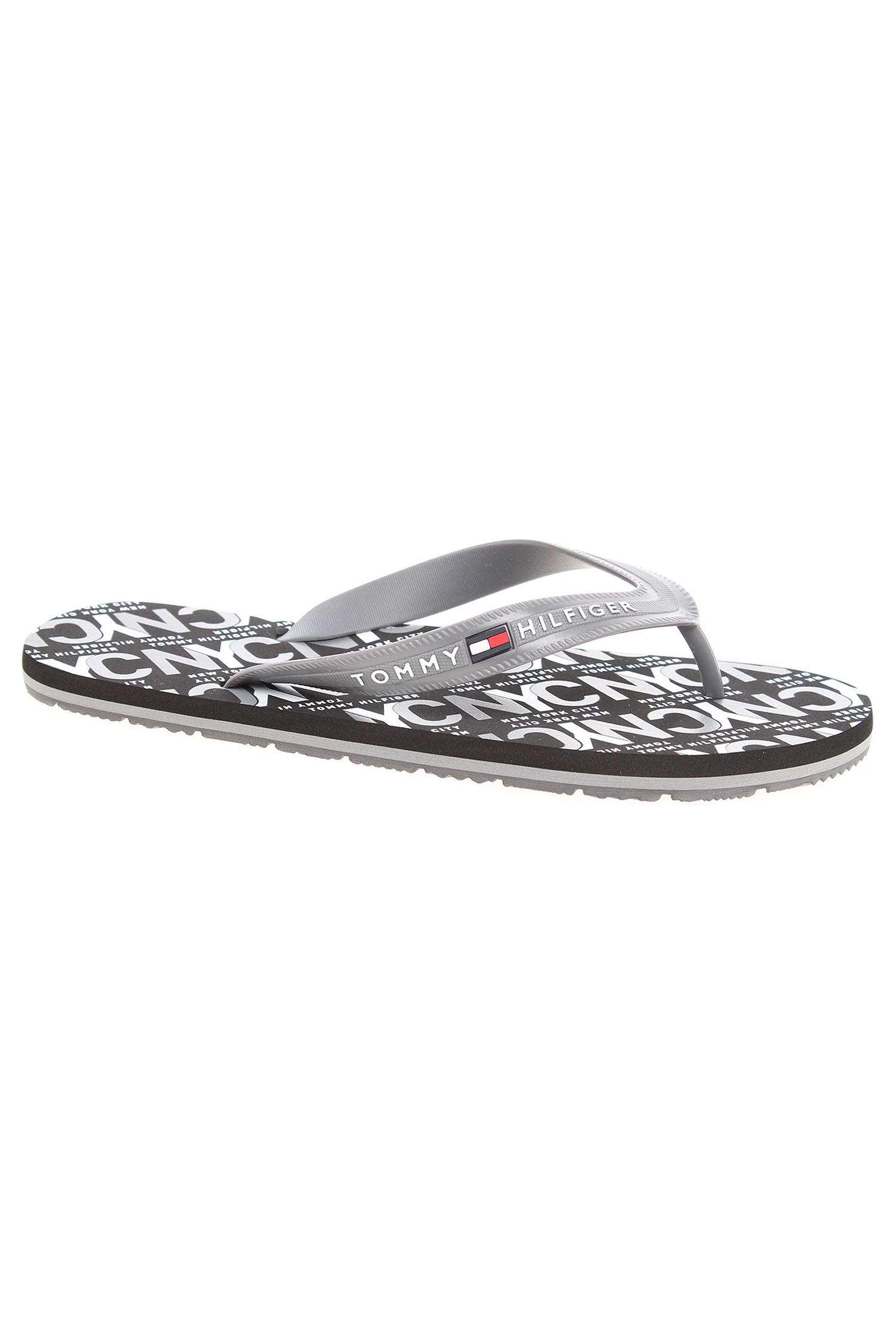 651e22eb97 Pánské plážové pantofle Tommy Hilfiger FM0FM01361 steel grey ...