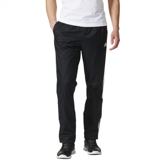 Pánske tepláky adidas Performance ESSENTIALS 3S PANT WVN (Čierna ... 529fa97a738