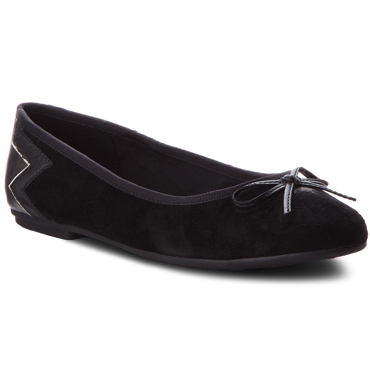 0c7853221fe Baleríny TOMMY HILFIGER - Elevated Suede Ballerina FW0FW03036 Black 990. 1