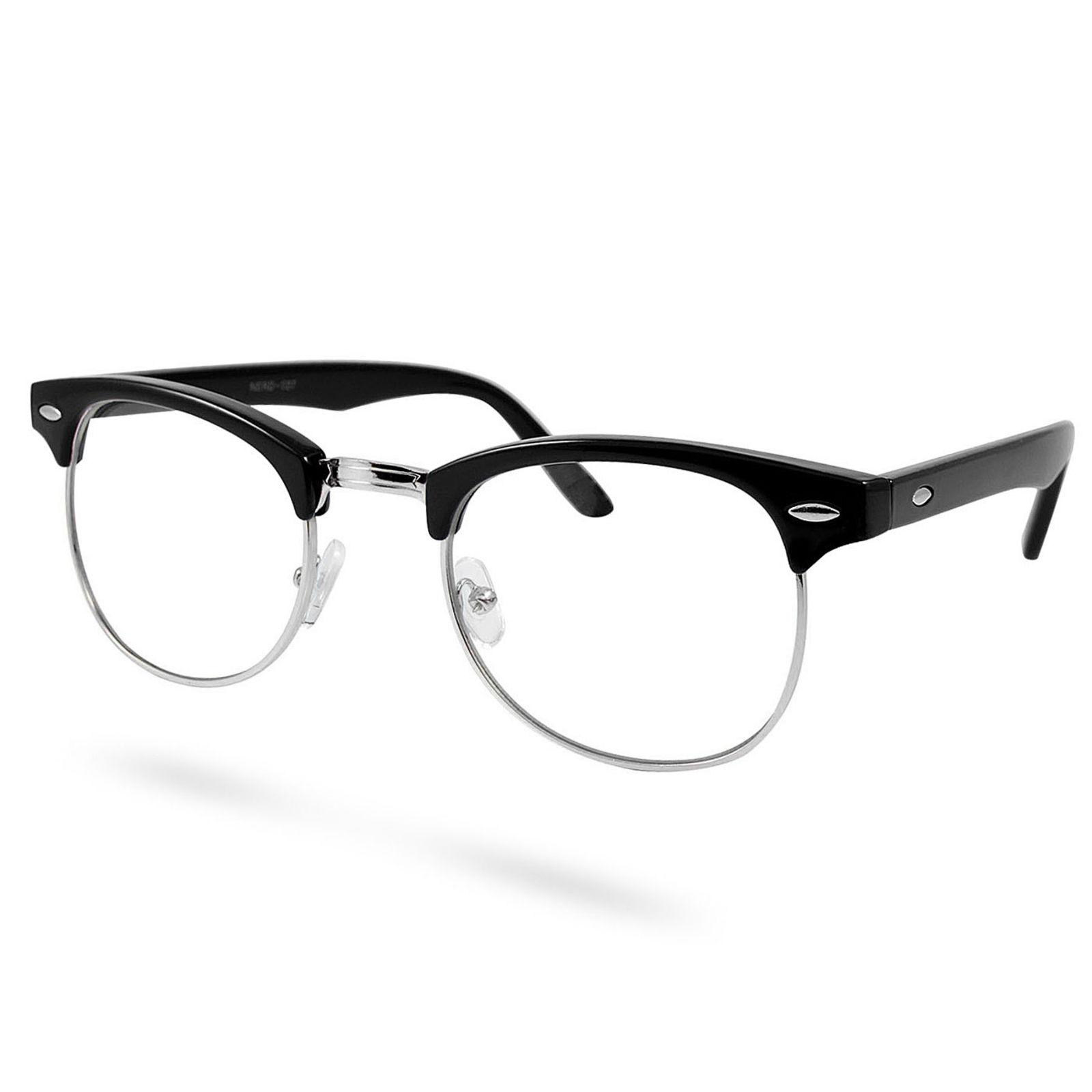 EverShade Čierno-strieborné vintage okuliare s čírymi sklami - Glami.sk dab56d49ae0