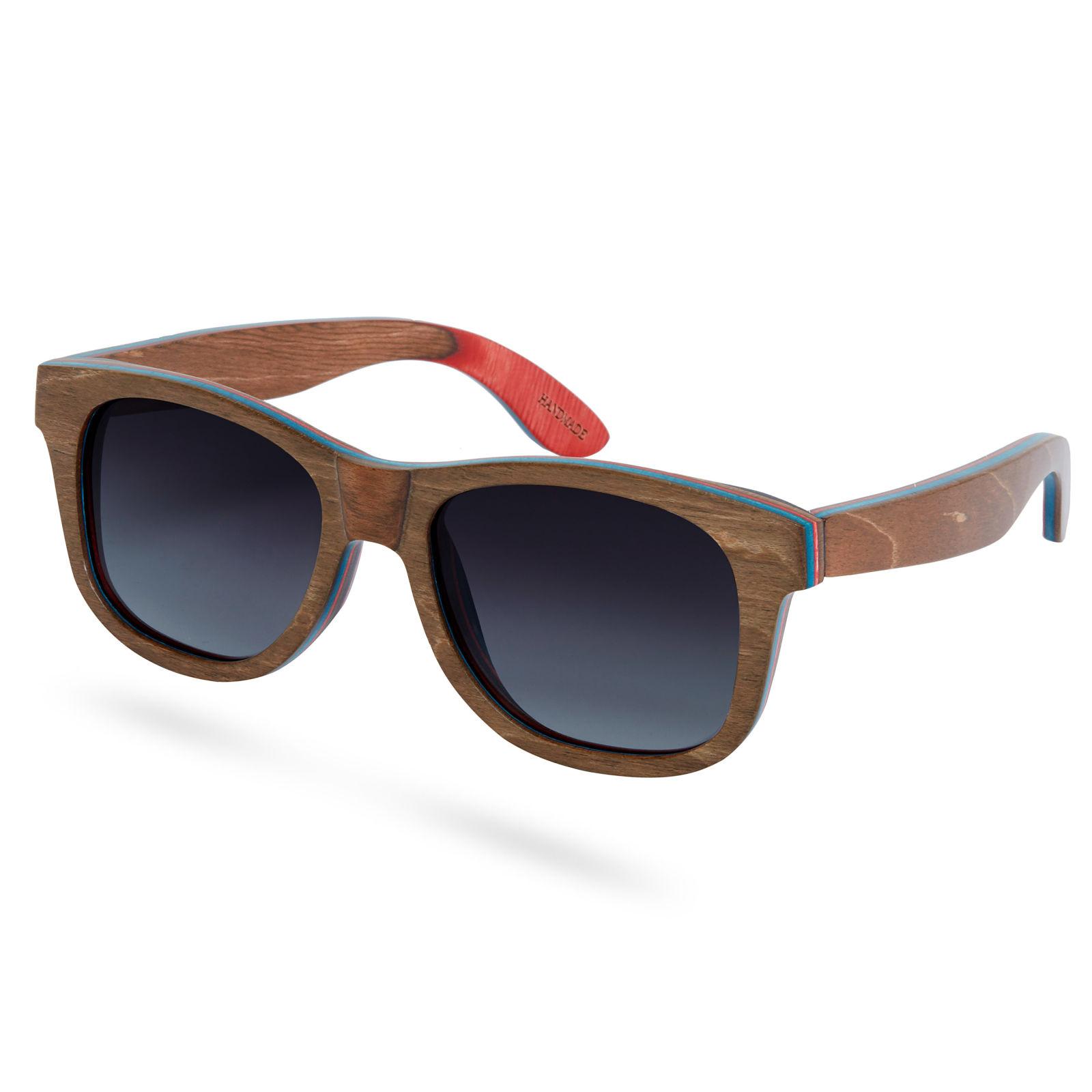 Paul Riley Hnedo šedé polarizačné slnečné okuliare zo skateboardového  dreva. 1 58e4bfcf3e9