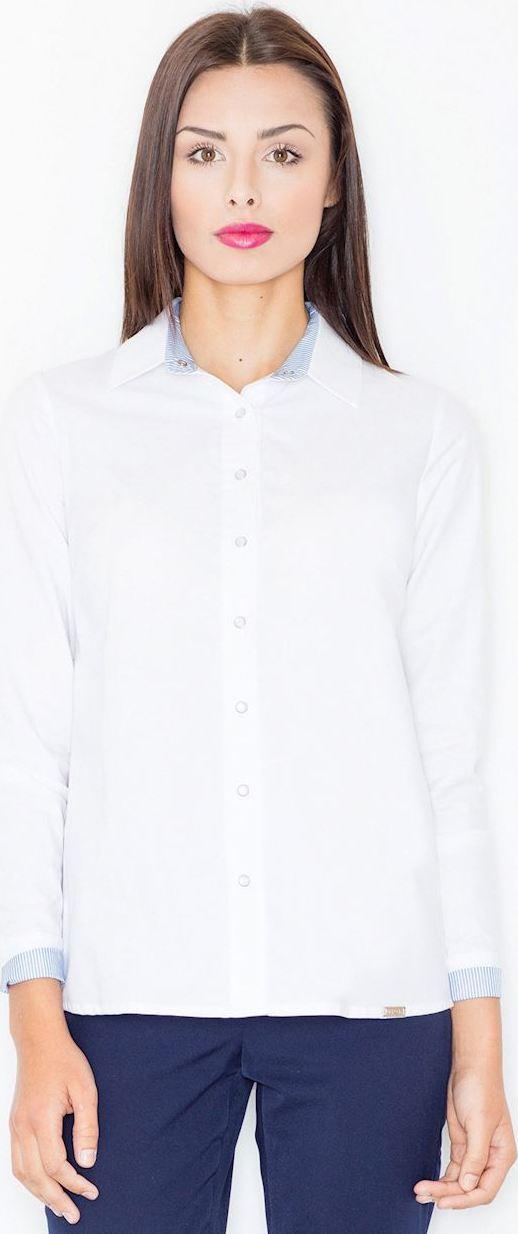 975df64f8e45 FIGL Dámska biela košeľa M491 - Glami.sk