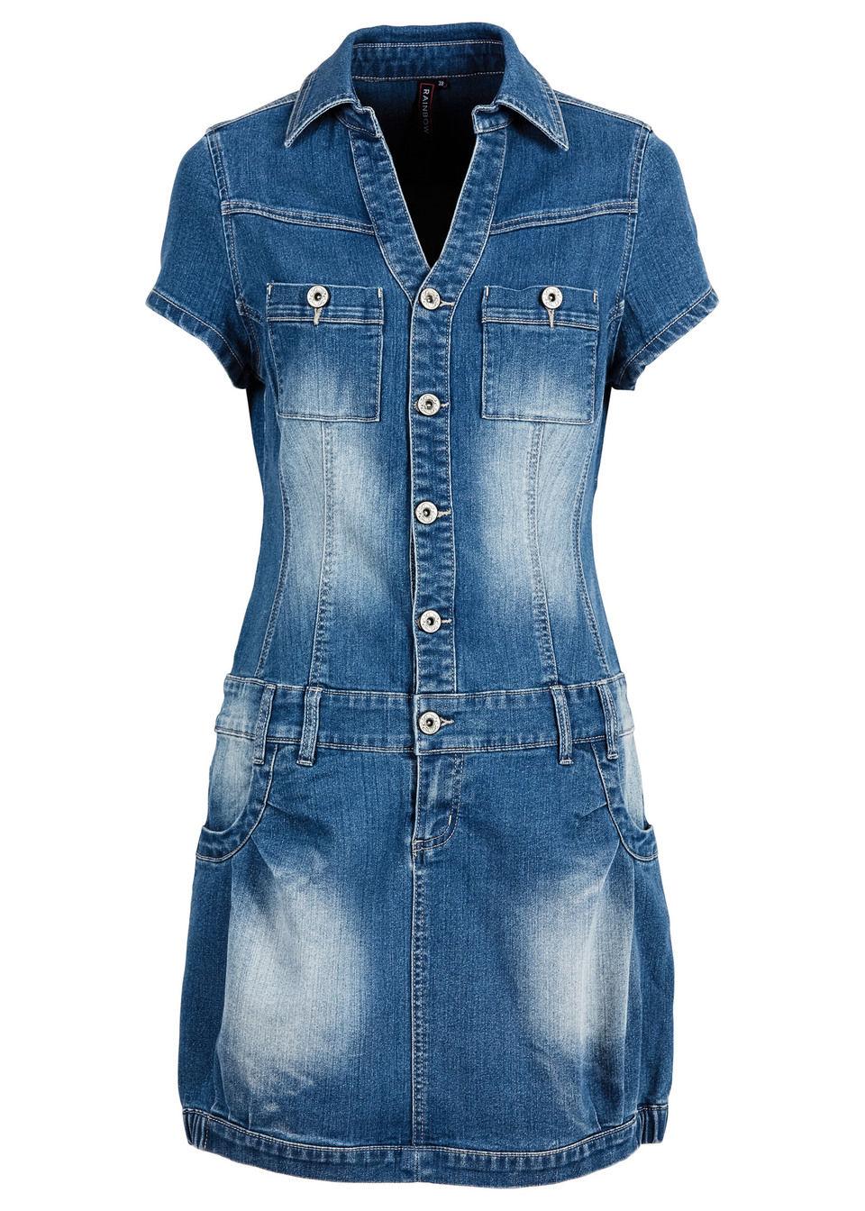 1734385db761 Bonprix Džínsové šaty na gombičky - Glami.sk