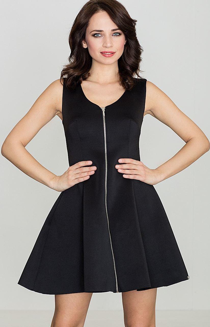 0c363d949faa LENITIF Dámske čierne šaty bez rukávov K255 - Glami.sk