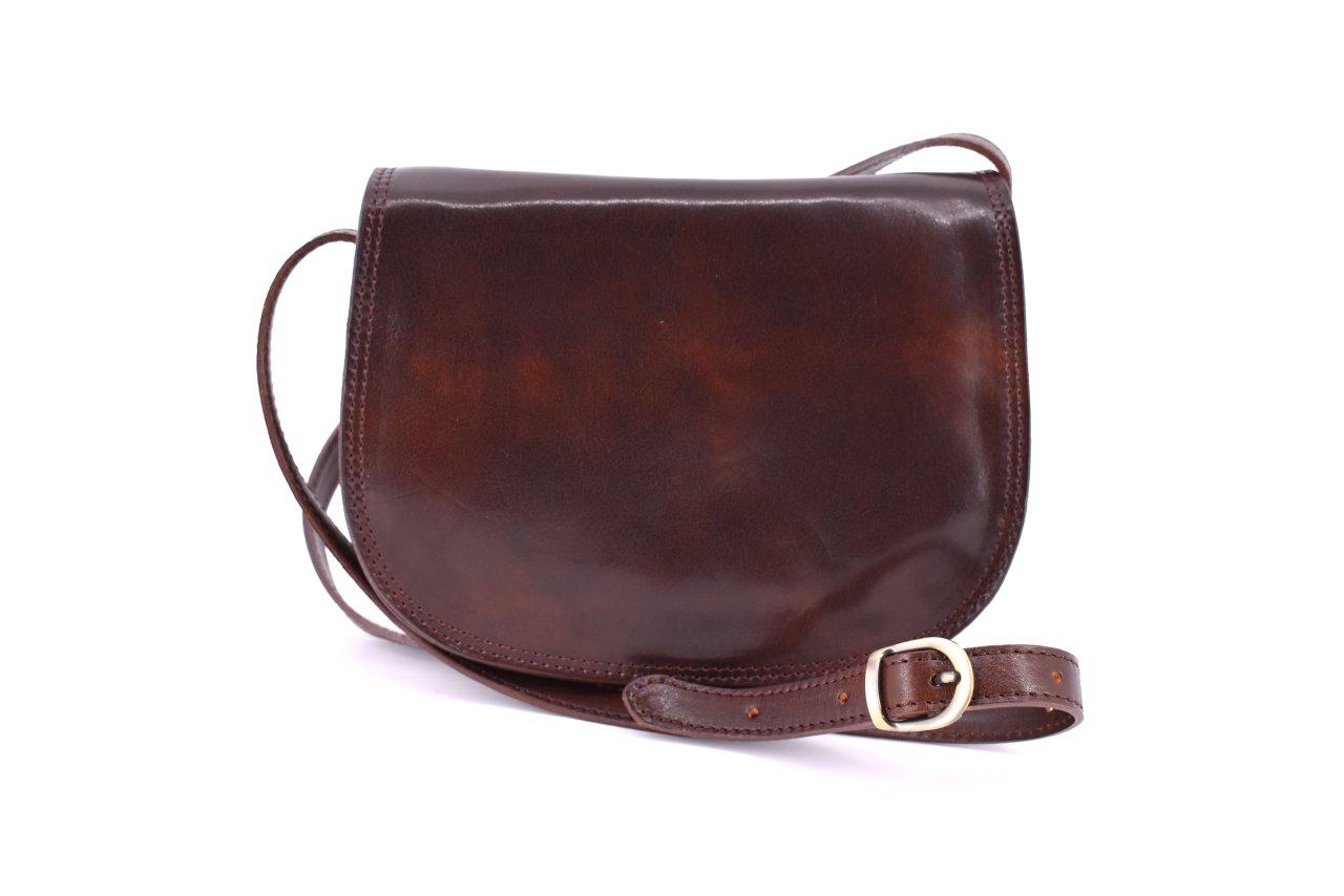 Dámská kožená kabelka crossbody (lovecká) Arteddy - tmavě hnědá ... 0f26a63eb9c