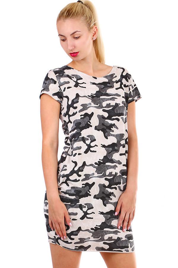 c059a0bb465 TopMode Dámské maskáčové šaty s krátkým rukávem (béžová