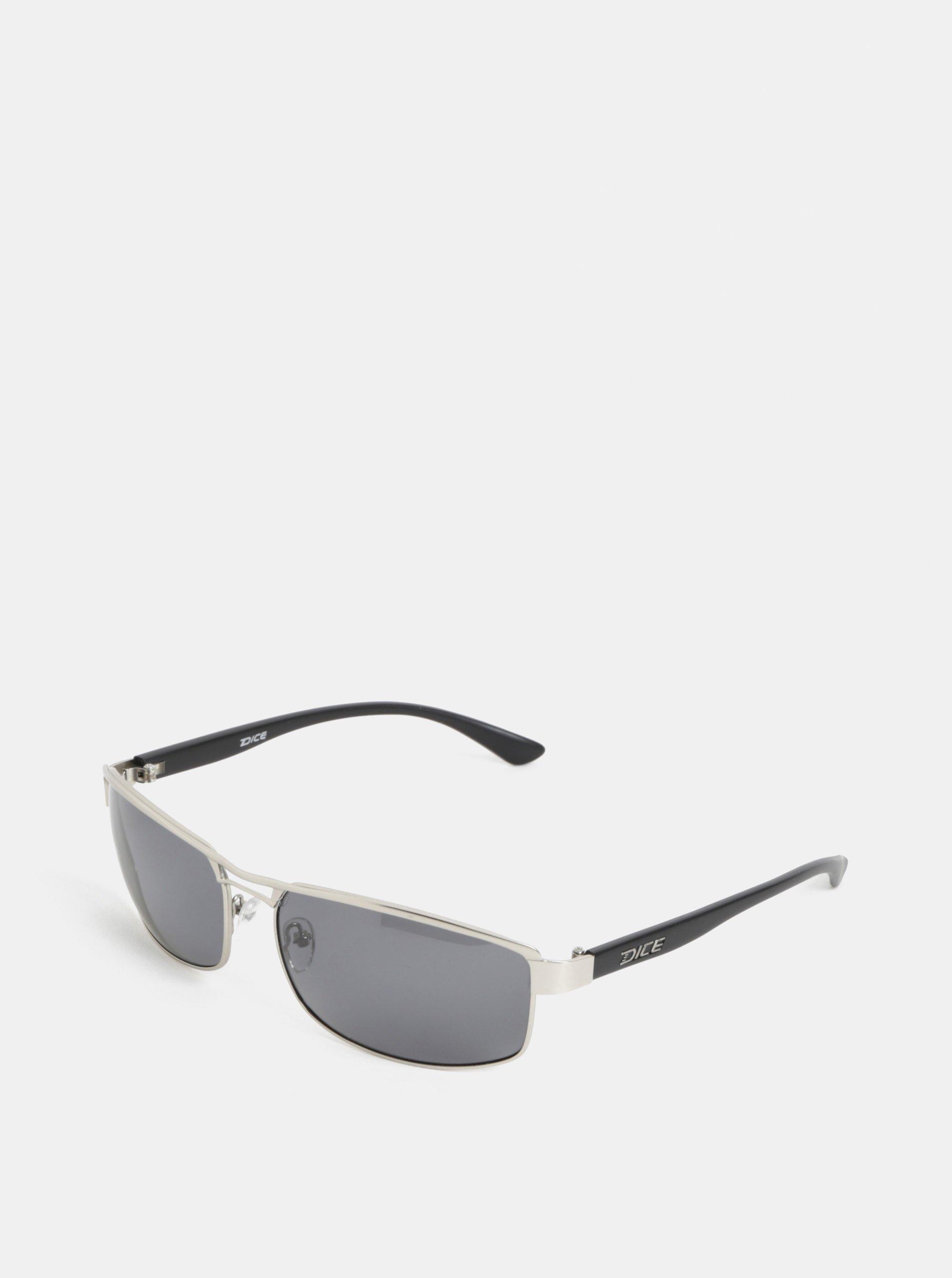 Pánske slnečné okuliare v striebornej farbe Dice Arm Polar - Glami.sk f4a40fa2c41