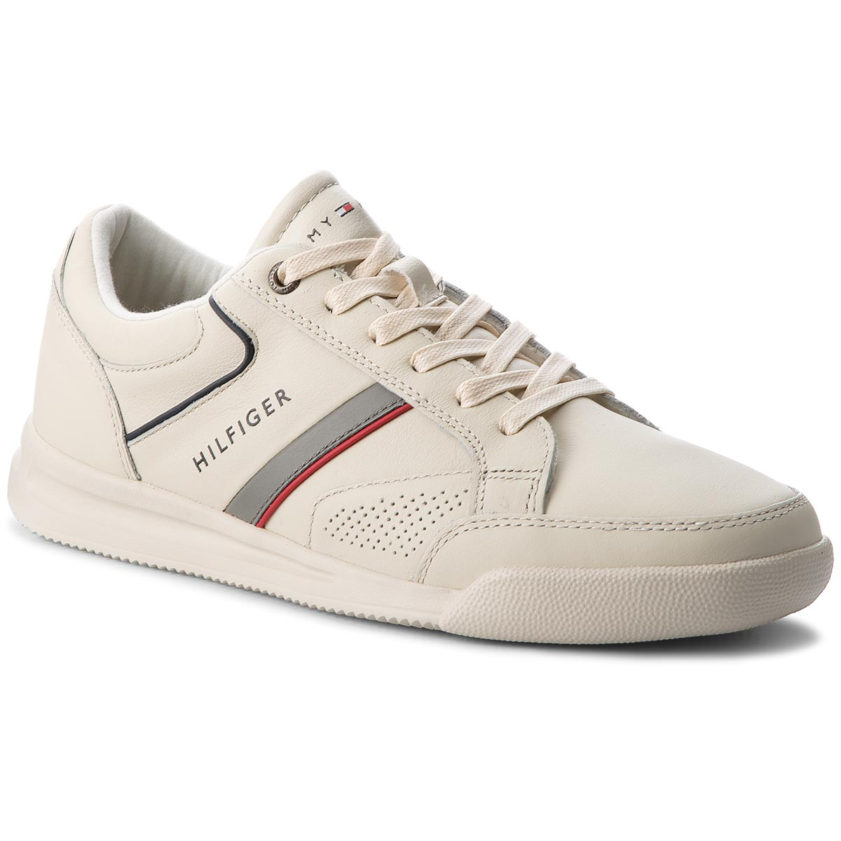 5236222f44 Sportcipő TOMMY HILFIGER - Corporate Detail Leather Sneaker FM0FM01620 Off  ...