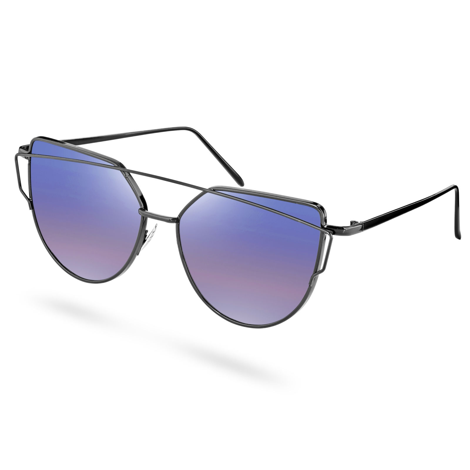 Paul Riley Polarizované slnečné okuliare s fialovým nádychom a abstraktným  rámom. 1 1227a1e53b4