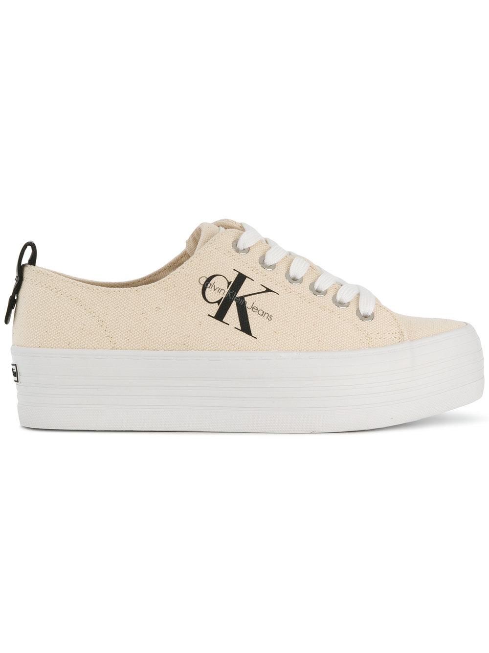 4191dd180b9 Calvin Klein Jeans flatform sneakers - Neutrals - Glami.cz