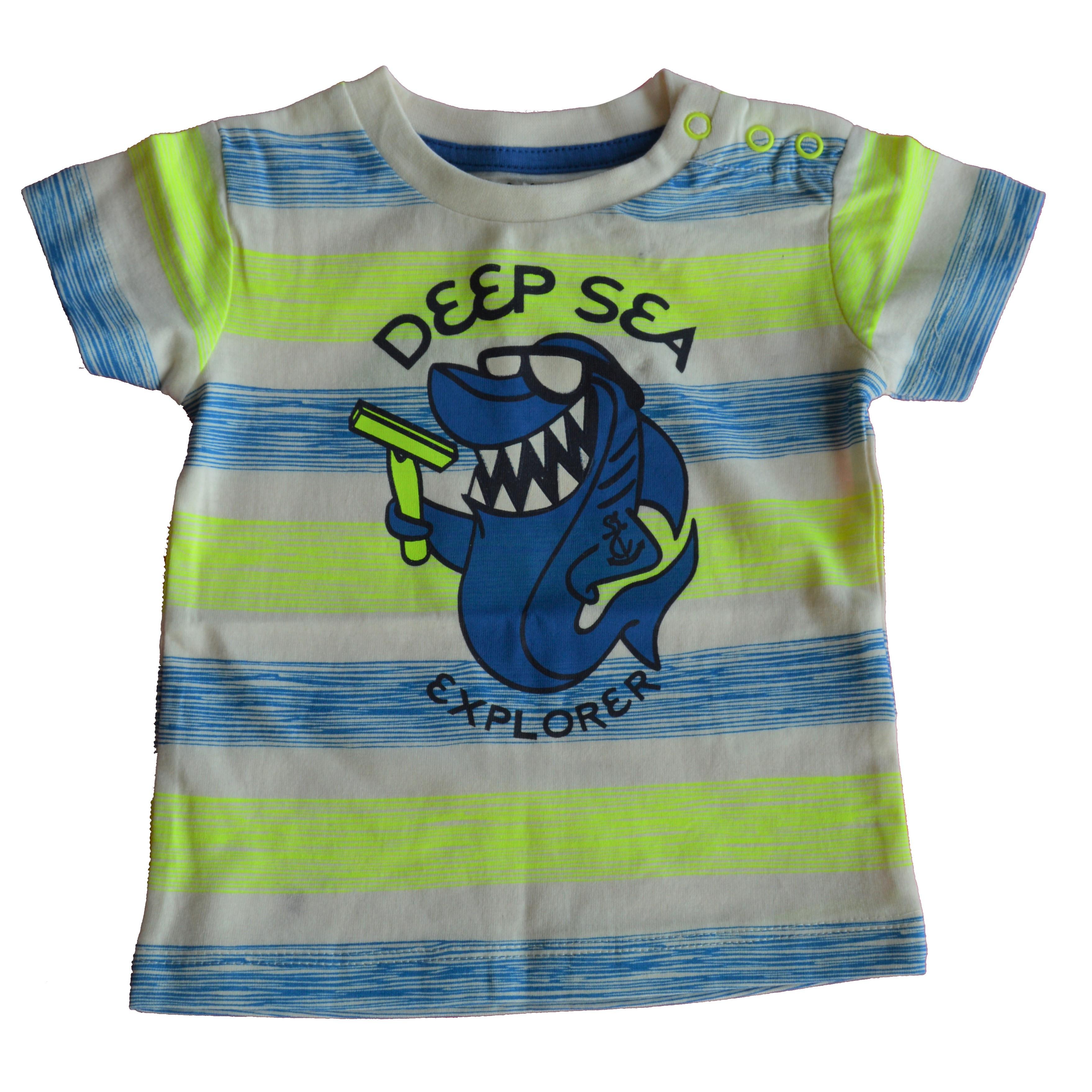555c4a8739f1c Carodel Chlapčenské tričko so žralokom - žlto-modré - Glami.sk