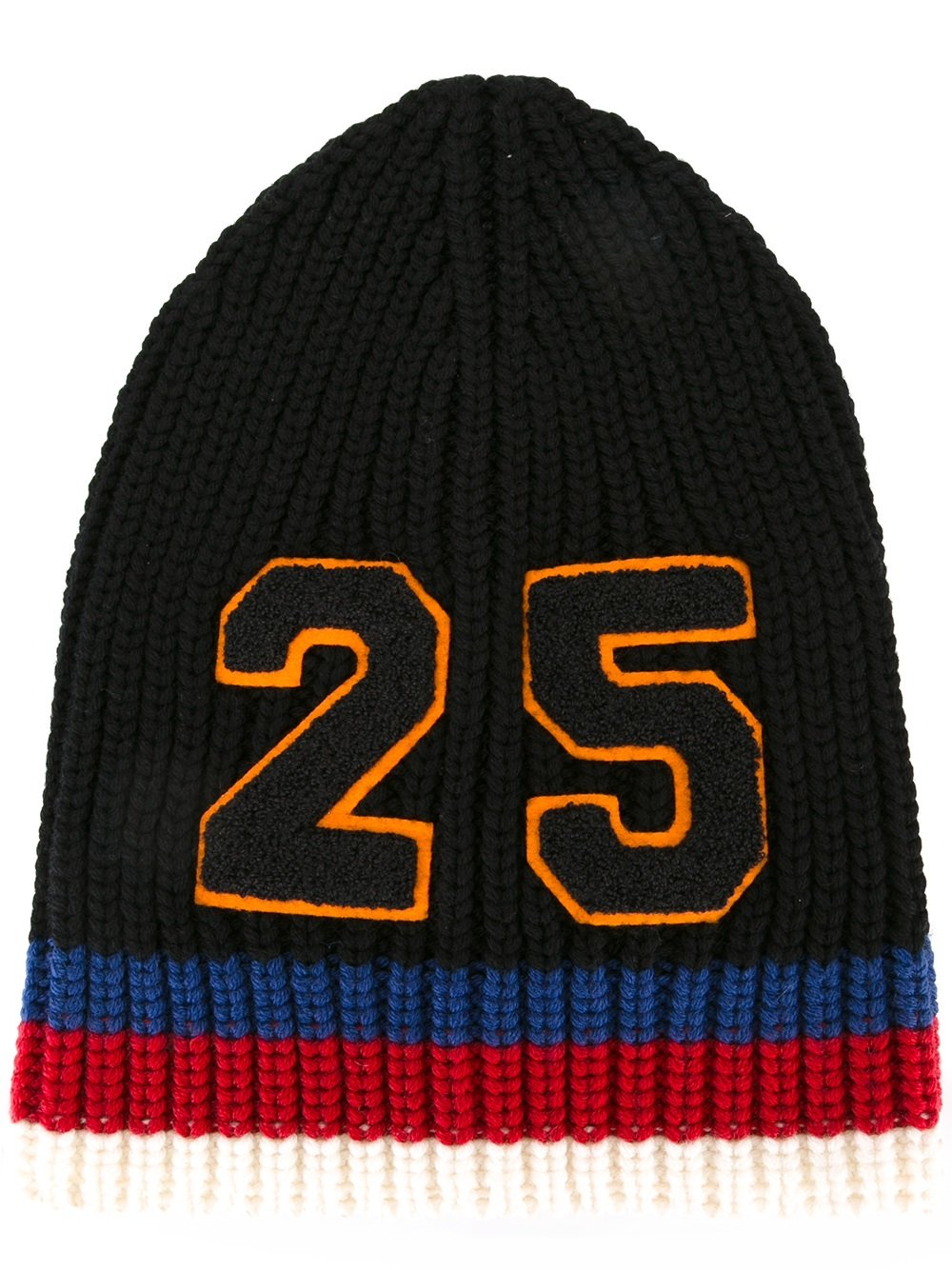 e9ce18dfd Gucci 25 ribbed knit beanie - Black - Glami.sk