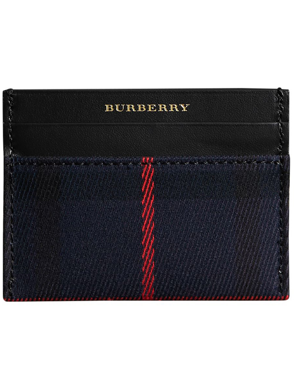 Burberry Tartan Check and Leather Card Case - Black - Glami.sk 88f8d0bab0e