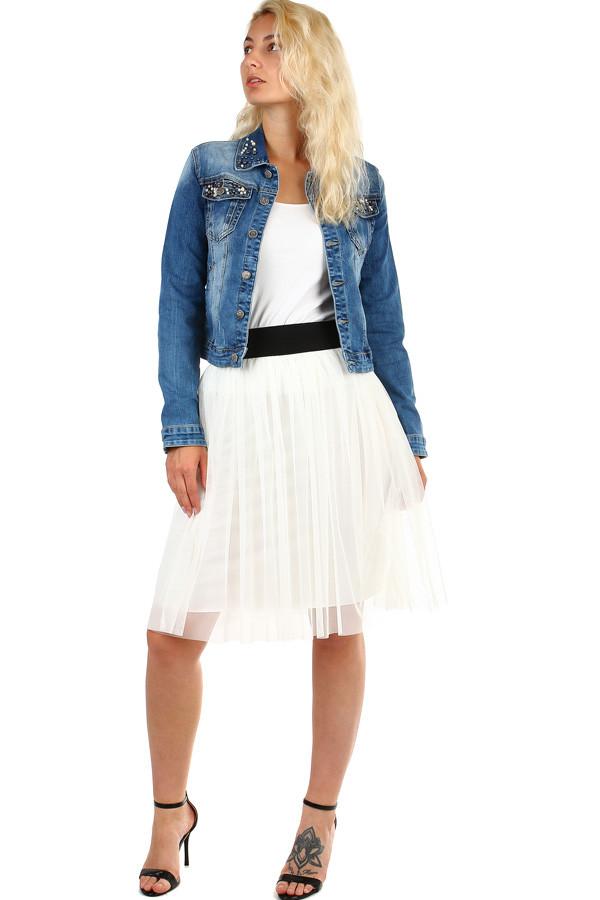 Glara tylová dámska midi sukňa s pružným pásom 28b746c49b