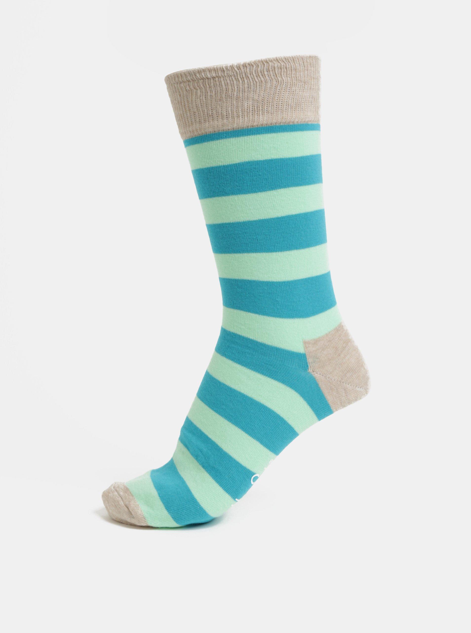 Zeleno-modré unisex pruhované ponožky Happy Socks Stripe - Glami.cz 6a362d1d19