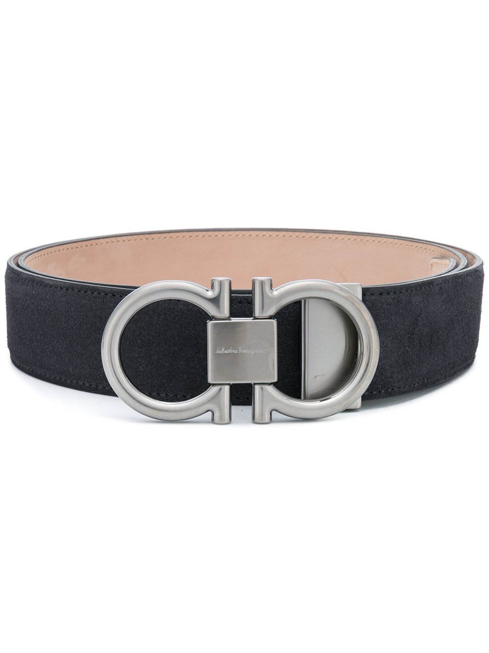 Salvatore Ferragamo double Gancio buckle belt - Grey - Glami.sk 34770923074