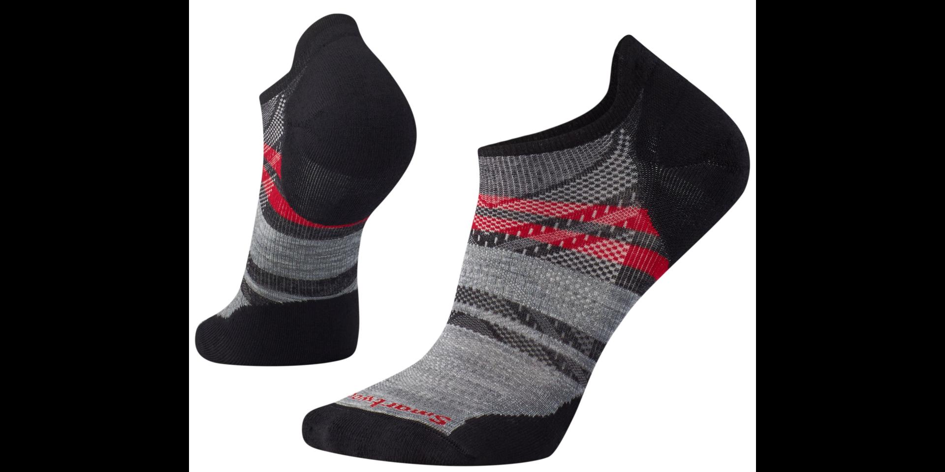 Ponožky dámské Smartwool PHD RUN LIGHT ELITE PATTERN MICRO charcoal ... c193bff7de