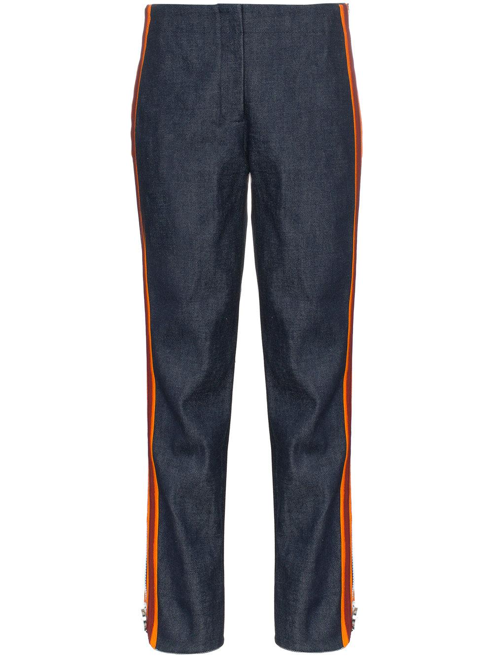 a3d424fafb8 Calvin Klein 205W39nyc high waist striped slim-fit jeans - Blue ...