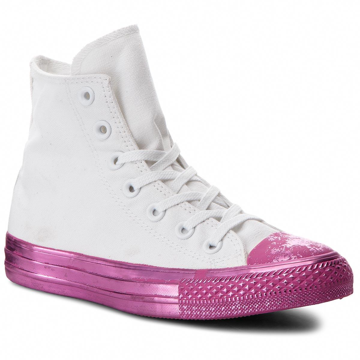 Plátěnky CONVERSE - Ctas Hi 156768C White Pink Black - Glami.cz abdb314d52