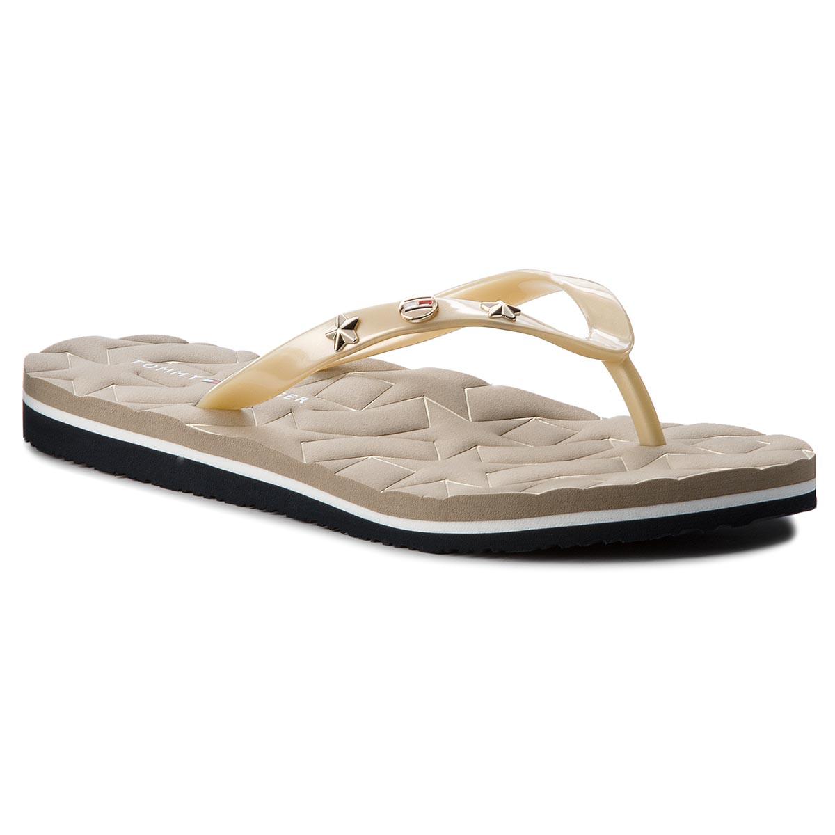 Žabky TOMMY HILFIGER - Metallic Star Beach Sandal FW0FW02656 Light ... 0eaad711dc9