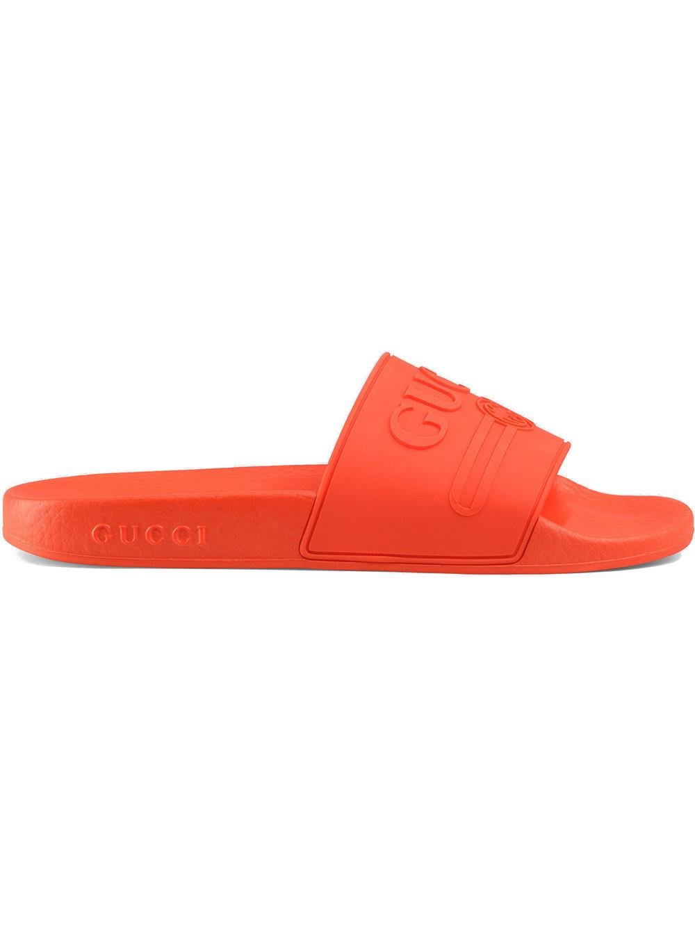Gucci Gucci logo rubber slide sandals - Yellow - Glami.cz aa4265cf02