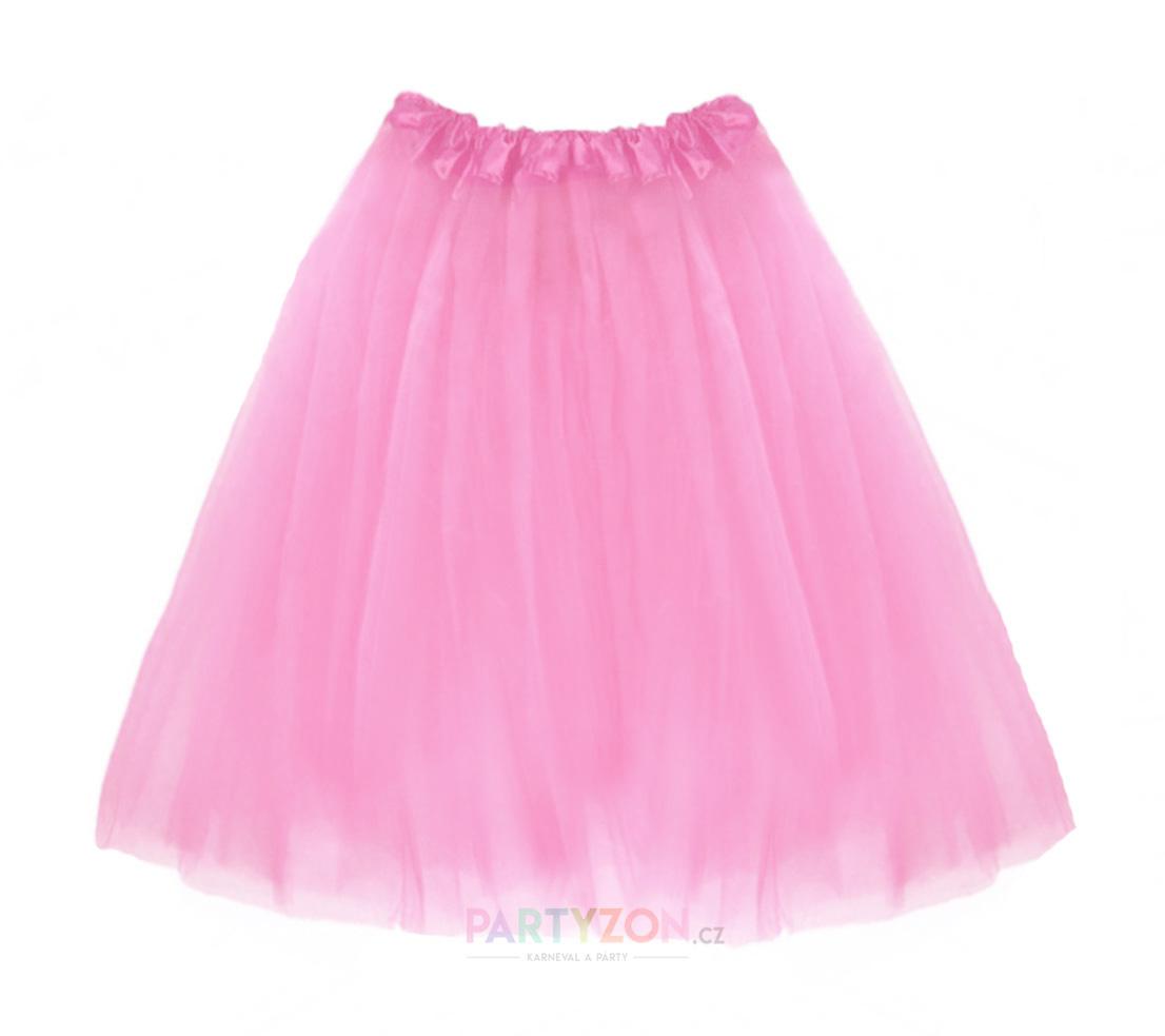 PT Dlouhá tylová sukně růžová 70cm - Glami.cz 0a1dad9bb3