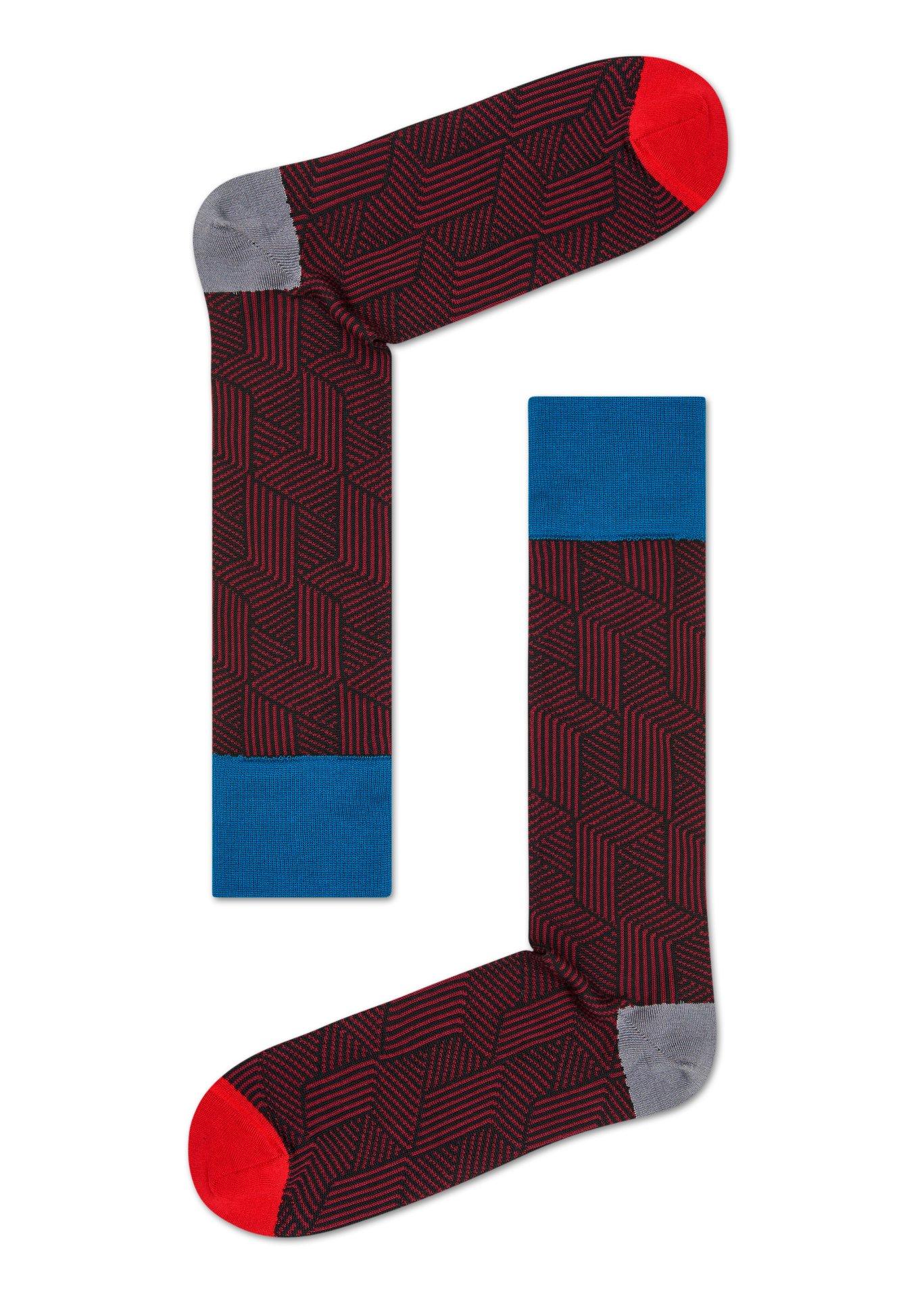 Pánské Hnědočervené ponožky Happy Socks d184660093