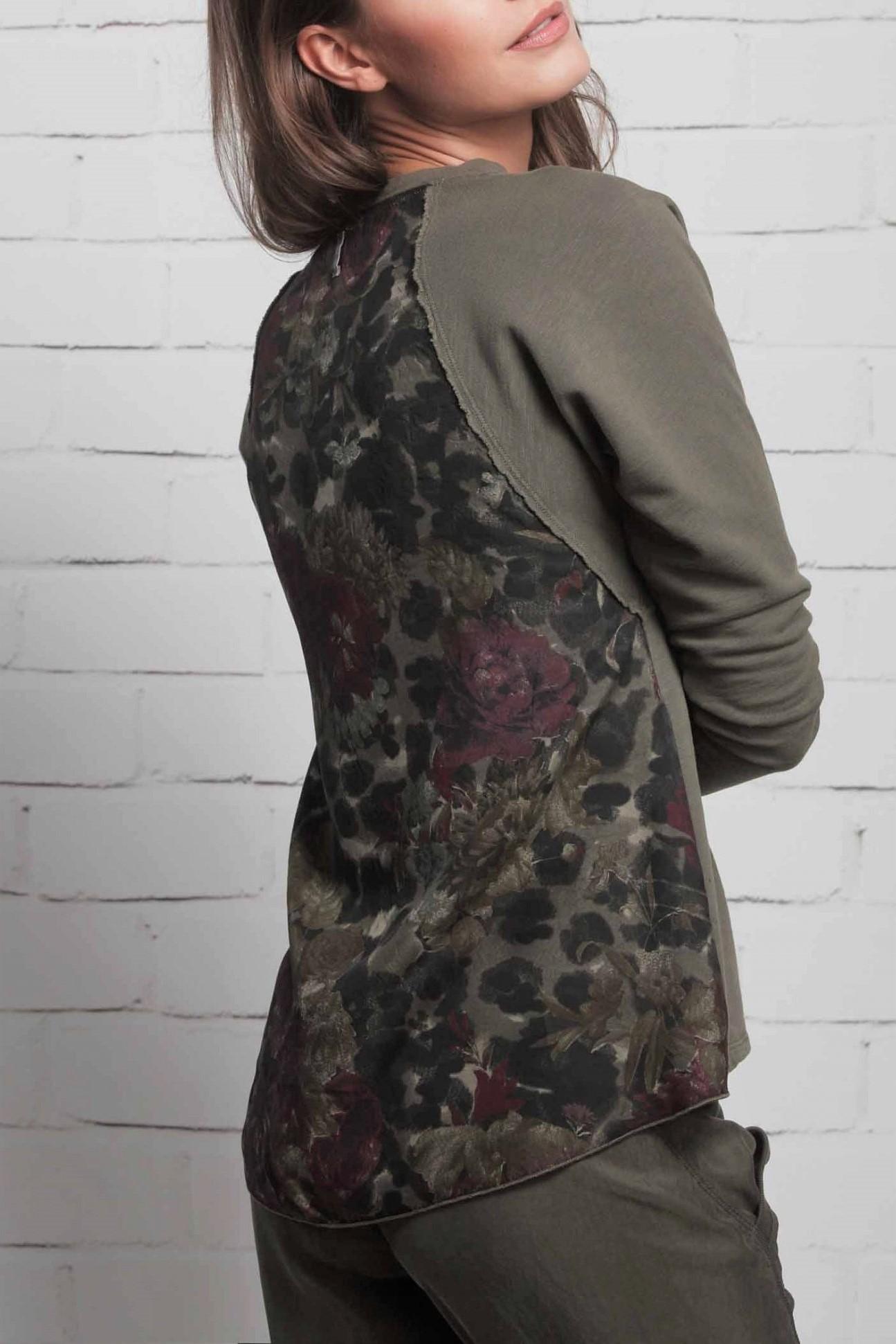 146d02c5a748 ... Deha khaki tričko s květinovými motivy - XS. -5% -50%