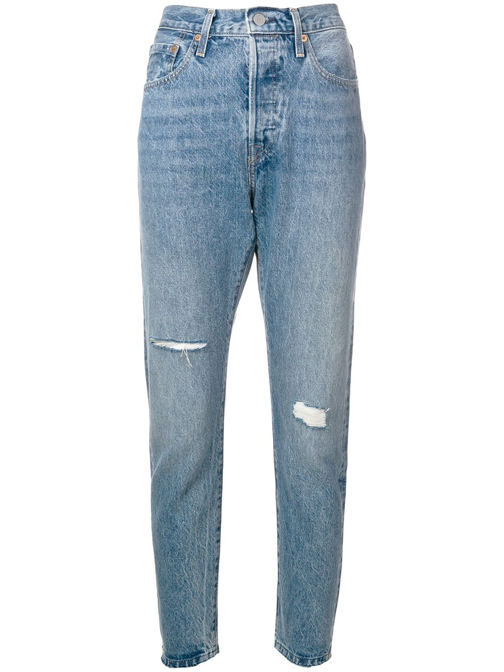 74a553ea3b1 Levi s  Made   Crafted distressed cropped jeans - Blue - Glami.cz