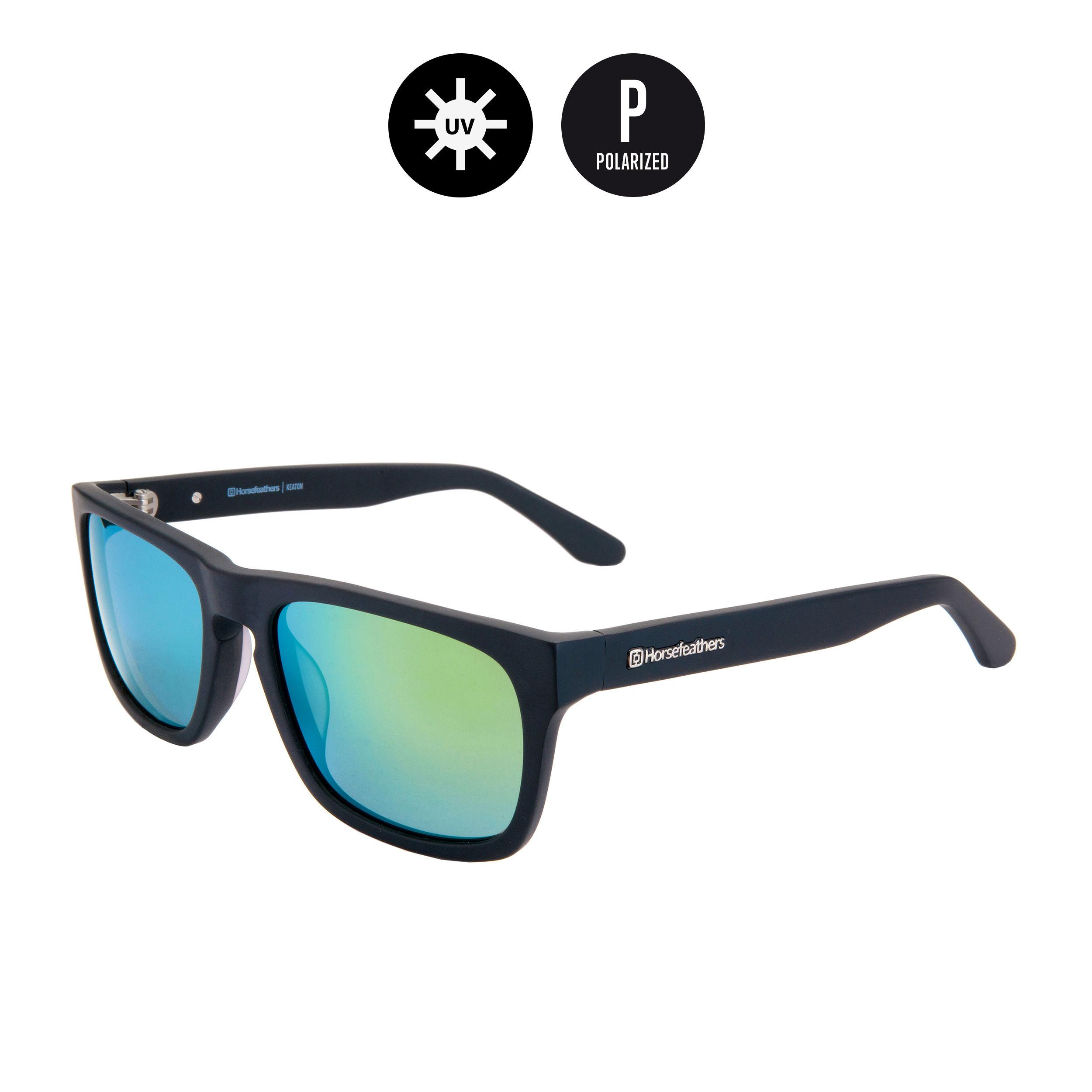 Horsefeathers slnečné okuliare Keaton - matt black mirror green ... f0368b49472