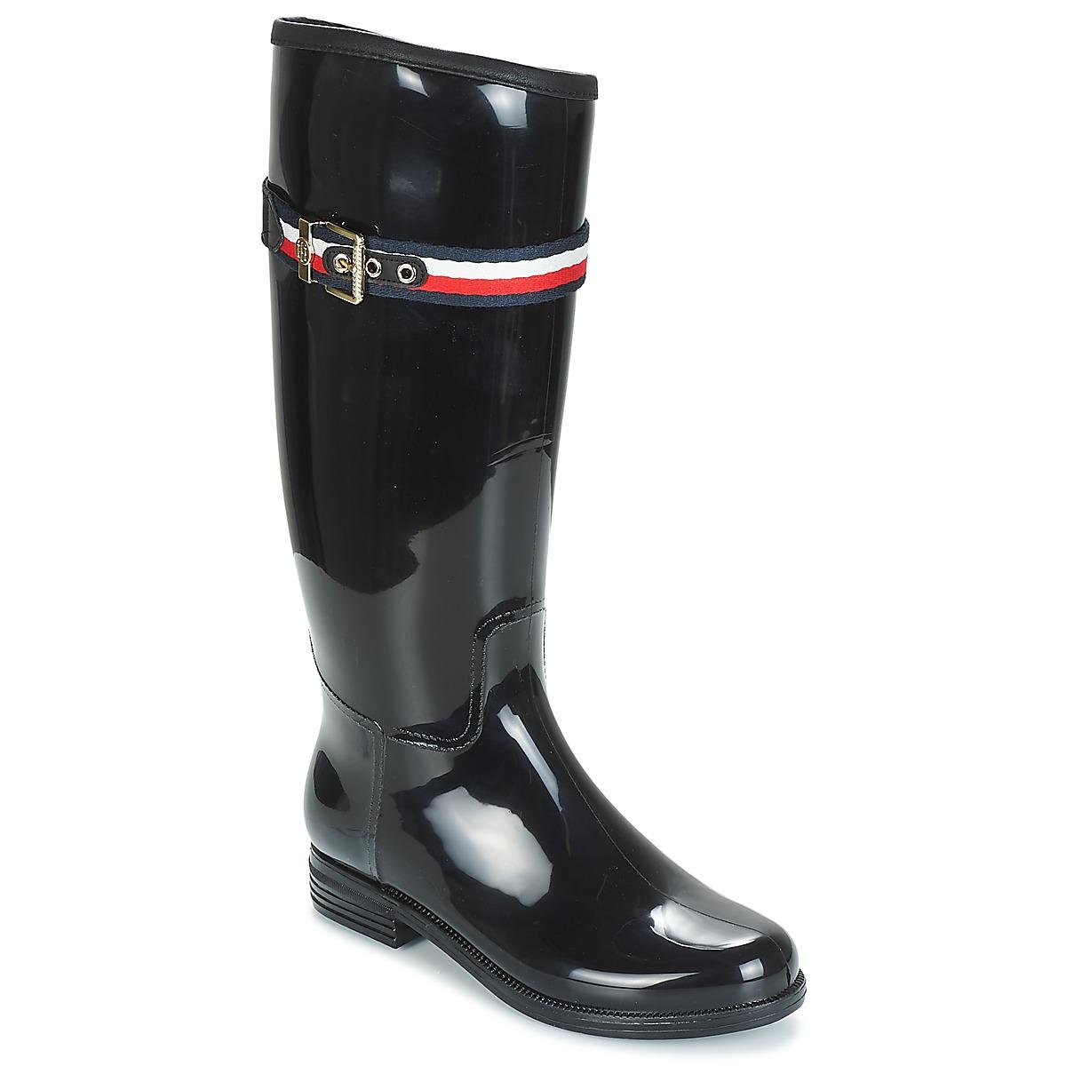 Tommy Hilfiger Čižmy do dažďa CORPORATE BELT LONG RAIN BOOT Tommy ... 3179ad4db08