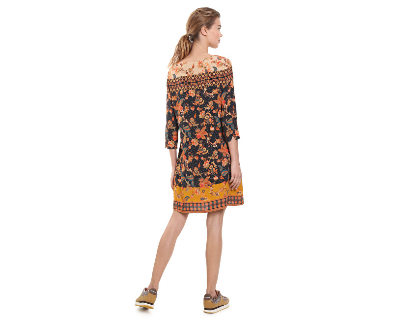 Desigual Dámske šaty Vest Paula Negro 18WWVW30 2000 - Glami.sk 2a25ae5cae2