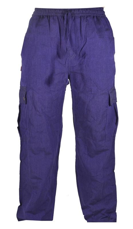 85735edc962 Fialové unisex kalhoty s kapsami