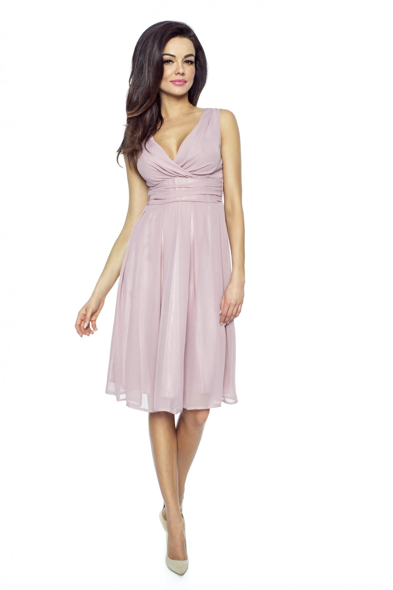 KARTES MODA šaty dámské KM117 šifon obálkový výstřih - Glami.cz 8421aeabd05