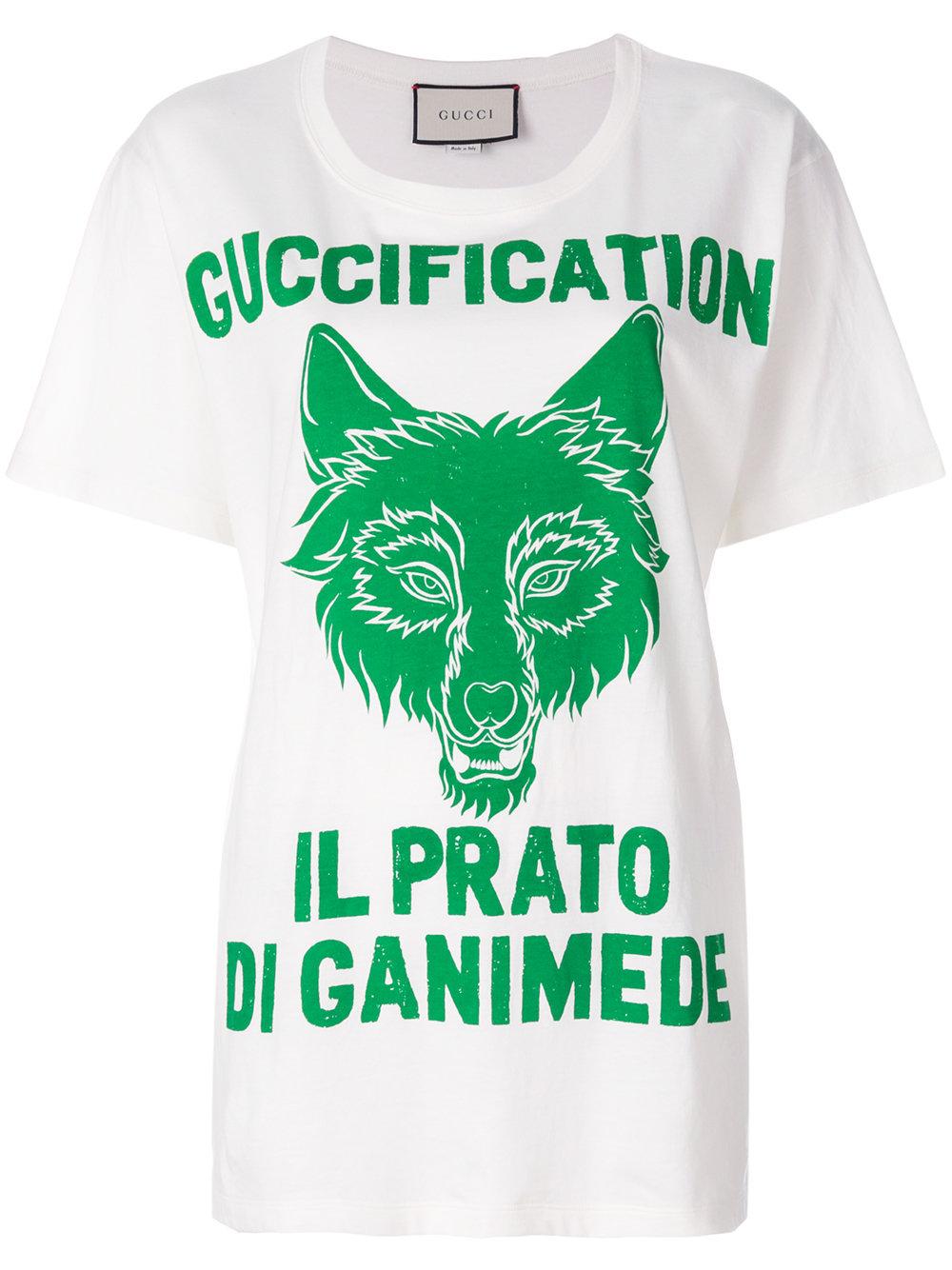 c42c4eda7 Gucci Il Prato di Ganimede Guccification print T-shirt - White ...